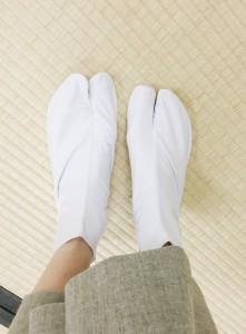 会場で手渡された足袋……!